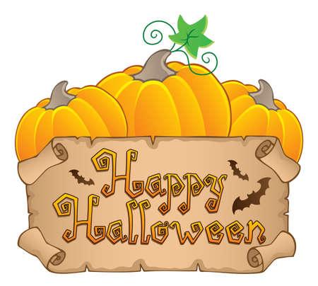 calabaza caricatura: Happy Halloween tema de la imagen 3 ilustración