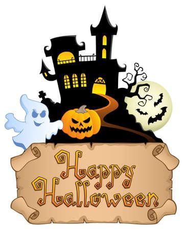 Happy Halloween topic image 4  illustration Stock Vector - 14604558