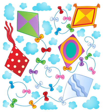 Kites theme image 1  illustration  Vector