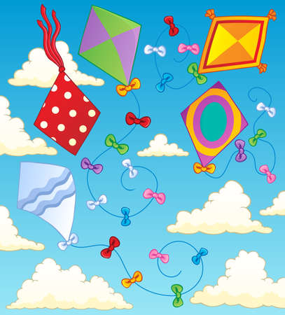 Kites theme image 2  illustration  Vector
