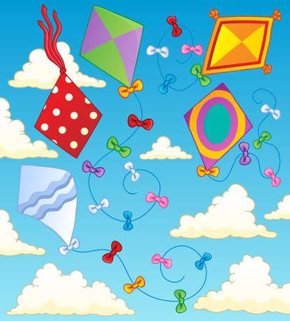 paper kite: Kites theme image 2  illustration  Illustration