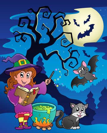 Scene with Halloween theme 9  illustration  Vector