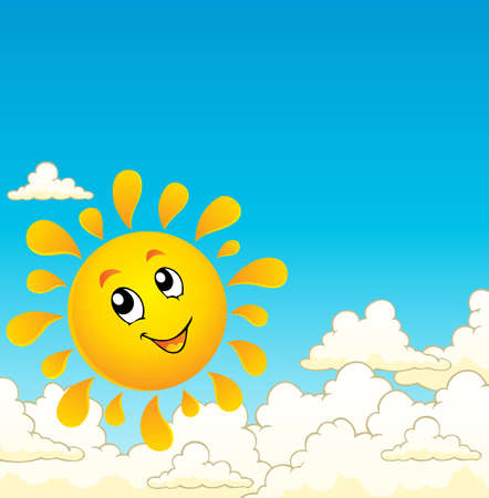 Sun theme image 9 - vector illustration  Vector