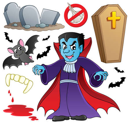 cartoon vampire: Vampire theme collection  illustration