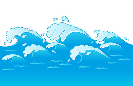 water surface: Waves theme image 3  illustration