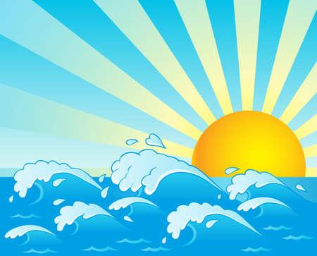 olas de mar: Olas tema de la imagen 4 ilustraci�n