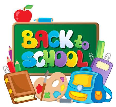 school classroom: Back to school thematic image 2 - vector illustration