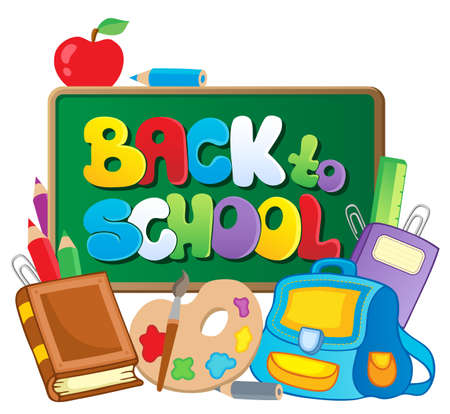 Back to school thematic image 2 - vector illustration