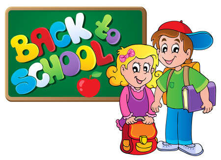 Back to school thematic image 4 - vector illustration Stock Vector - 15191238