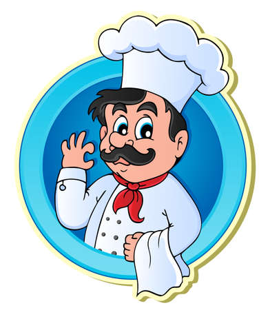 cook cap: Chef theme image 2 - vector illustration