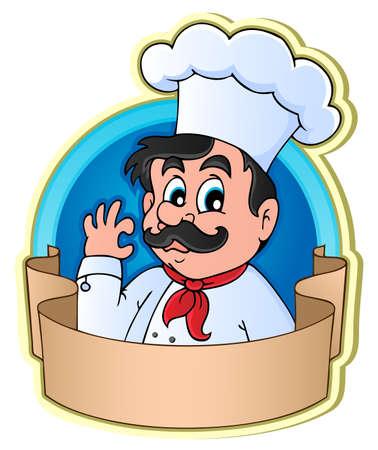 restaurateur: Chef theme image 3 - vector illustration  Illustration