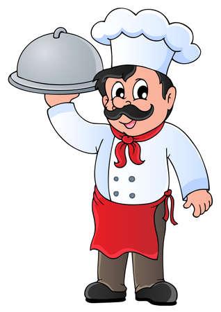 Chef-kok thema afbeelding 4 - vector illustration