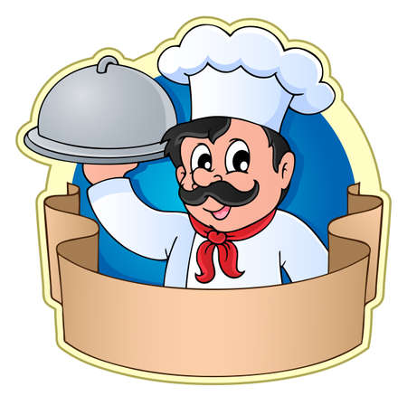 restaurateur: Chef theme image 5 - vector illustration