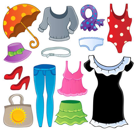 garments: Clothes theme collection 2 - vector illustration