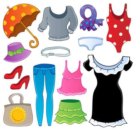 faldas: Ropa de recogida tema 2 - ilustraci�n vectorial Vectores