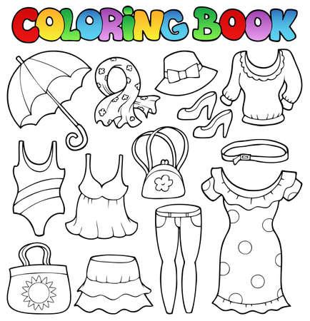 Coloring book v�tements th�me 2 - illustration vectorielle