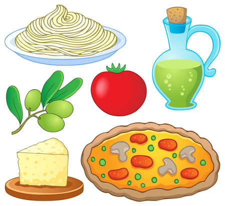 Italian food collection 1 - vector illustration  Vector