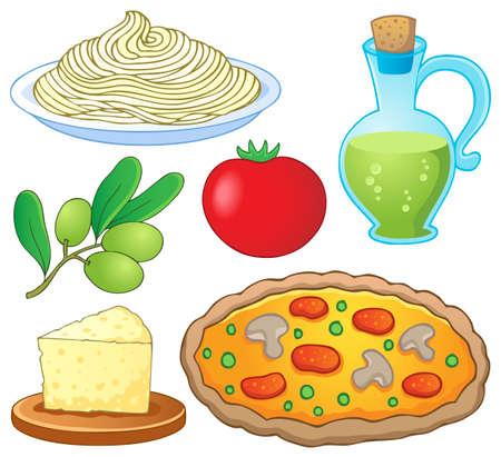 spaghetti: Italian food collection 1 - vector illustration  Illustration