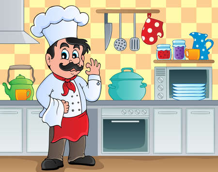restaurateur: Kitchen theme image 2 - vector illustration