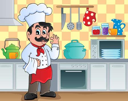 cocina caricatura: Tema Cocina 2 imagen - ilustraci�n vectorial