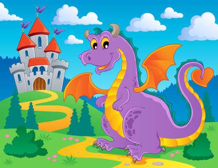 Dragon theme image 2 - vector illustration  Illustration