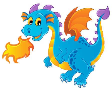 cartoon dragon: Dragon theme image 4 - vector illustration