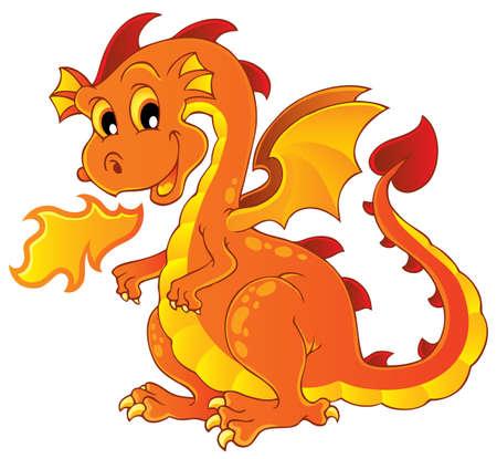 dragones: Drag�n imagen Tema 7 - ilustraci�n vectorial