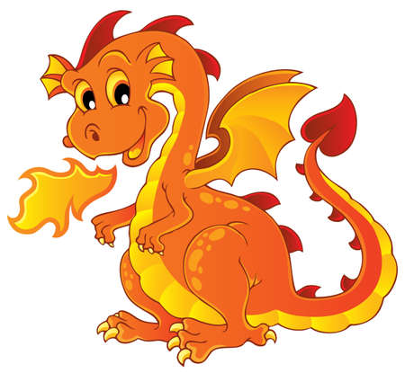 Dragon theme image 7 - vector illustration Stock Vector - 15045937