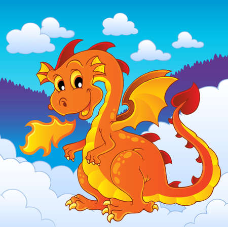 Dragon theme image 8 - vector illustration Stock Vector - 15045962