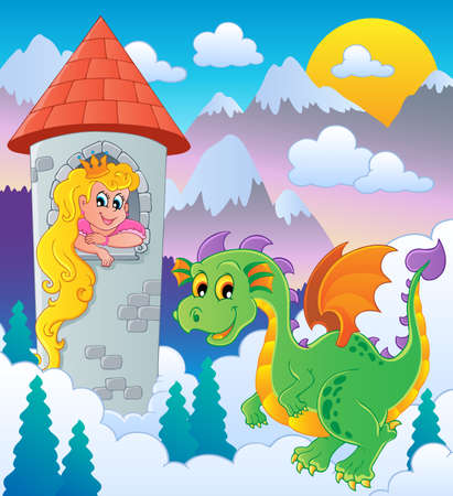 Dragon topic image 1 - vector illustration  Vector
