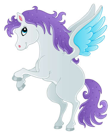 Fairy tale pegasus theme image 1 - vector illustration  Vector