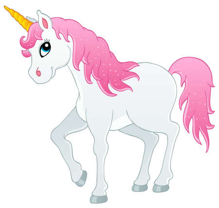 Fairy tale unicorn theme image 1 - vector illustration  Illustration