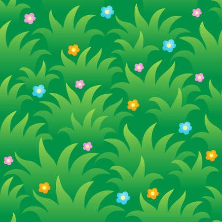 grassy: Grassy seamless background 1 - vector illustration  Illustration