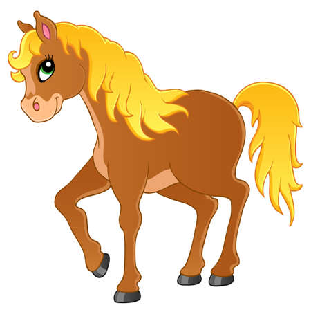 pony: Horse theme image 1 - vector illustration