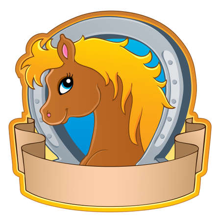 pony: Horse theme image 3 - vector illustration  Illustration