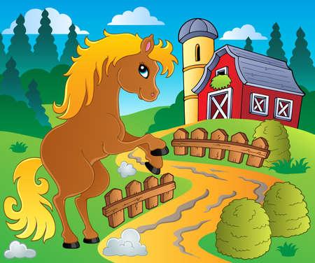 mare: Horse theme image 4 - vector illustration