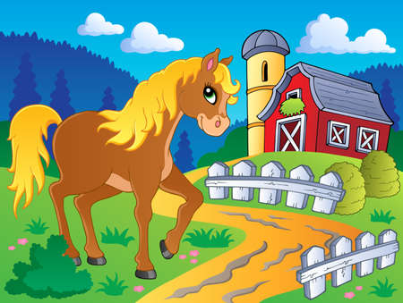 farmhouse: Horse theme image 5 - vector illustration