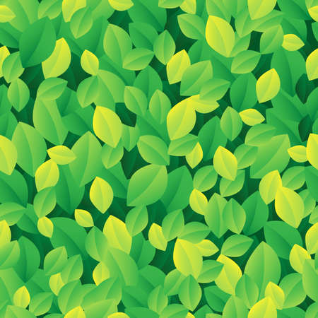 Leafy seamless background 1 - vector illustration  Vector