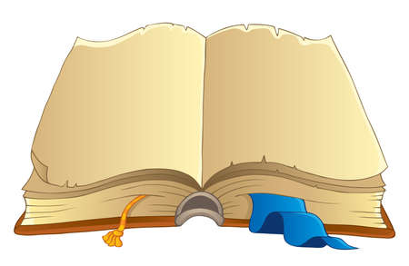 libro caricatura: Libro del Antiguo imagen Tema 2 - ilustraci�n vectorial