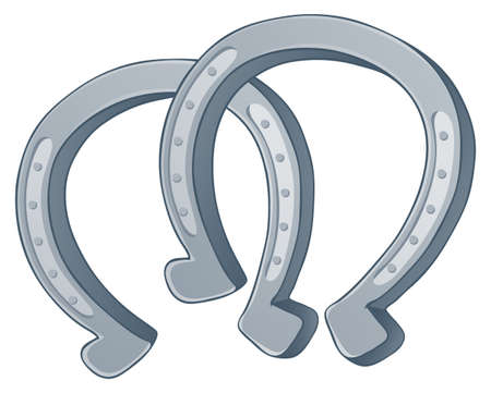 herradura: Par de zapatos de caballos - ilustración vectorial