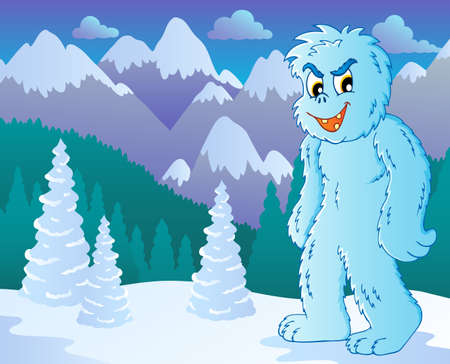 yeti: Yeti theme image 2 - vector illustration
