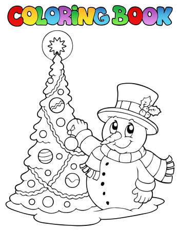 Coloring book Christmas  Illustration