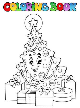 coloring: Coloring book Christmas  Illustration