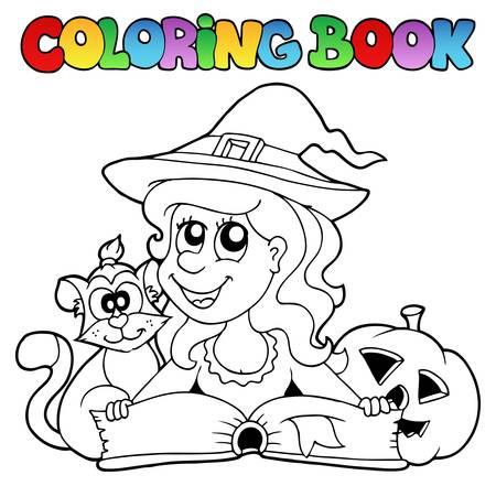 Coloring book Halloween Stock Vector - 15374138