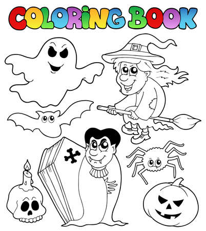 Coloring book Halloween  Vector