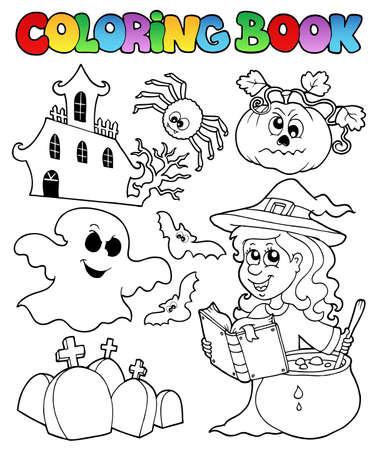 autumn colouring: Coloring book Halloween