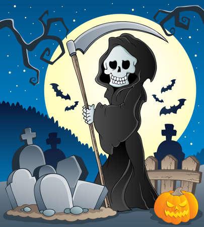 halloween skeleton: Grim reaper theme