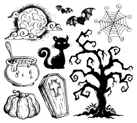 coffin: Halloween drawings