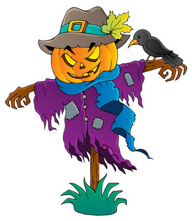 crow: Halloween scarecrow Illustration