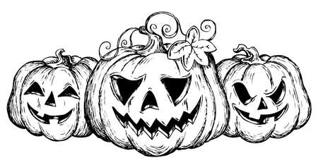 Halloween theme drawing 2 - vector illustration  Stock Vector - 15374145